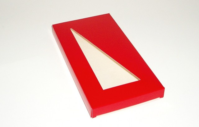 Etui tablette chocolat fenetre triangle 155x75x8 att for Fenetre triangle