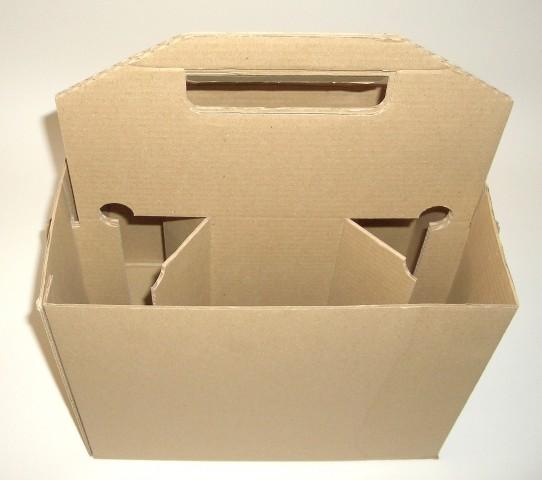panier carton 6 bouteilles avec poign e att packaging. Black Bedroom Furniture Sets. Home Design Ideas