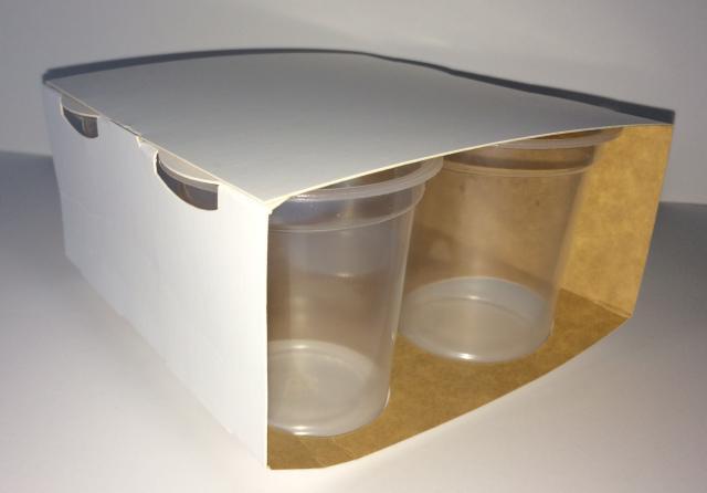 groupeur enveloppant 4 pots de yaourt 125g en carton. Black Bedroom Furniture Sets. Home Design Ideas